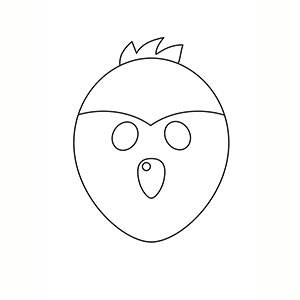 Maschera di Uccellino per colorare