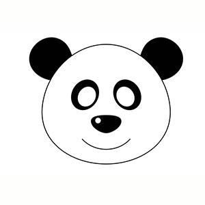 Maschera di Panda da stampare