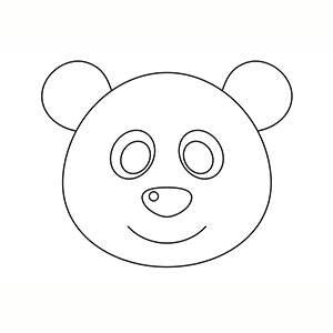 Maschera di Panda per colorare