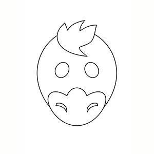 Maschera di Anatra per colorare
