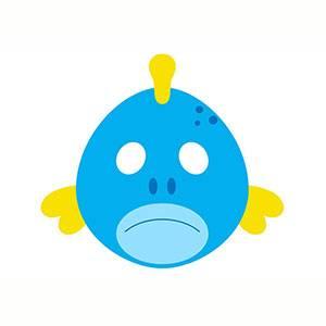 Maschera di Pesce da stampare