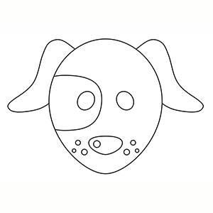 Maschera di Cane per colorare