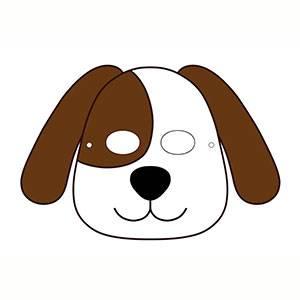 Maschera di Cane da stampare