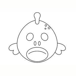 Maschera di Pesce per colorare