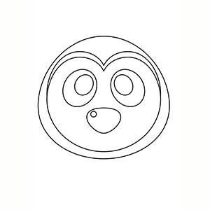 Maschera di Pinguino per colorare