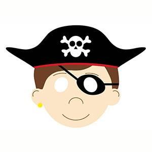 Maschera di Pirata da stampare