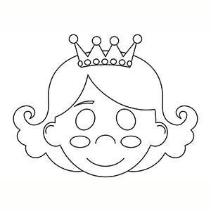 Maschera di Principessa per colorare