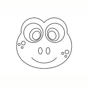 Maschera di Rana per colorare