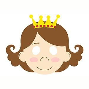 Maschera di Principessa da stampare