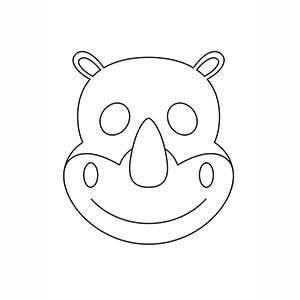 Maschera di Rinoceronte per colorare