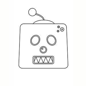 Maschera di Robot per colorare