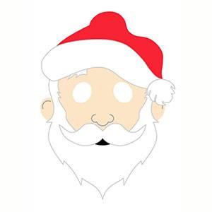 Maschera di Babbo Natale da stampare