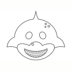 Maschera di Squalo per colorare