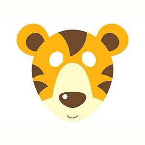 Maschera di Tigre da stampare