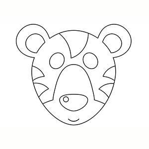 Maschera di Tigre per colorare