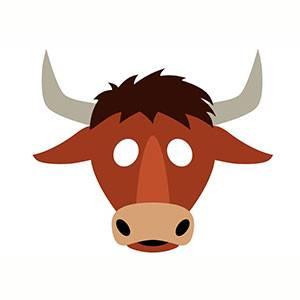Maschera di Toro da stampare