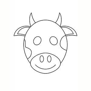 Maschera di Mucca per colorare