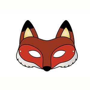 Maschera di Volpe da stampare
