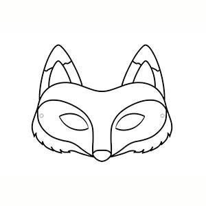 Maschera di Volpe per colorare
